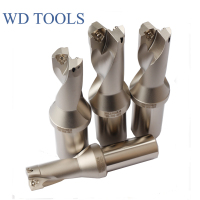 Big and deep hole processing WC-C40-80-2D Insert U Drilling indexable insert  Drill Type