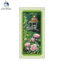 Joy Sunday Scenery style Like in heaven counted Cross Stitch sampler patterns home decoraction needle for cross stitch crafts