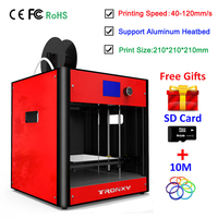 Tronxy 3D принтеры комплект C5 RepRap I3 Полный металлический каркас промышленного класса Высокая точность Поддержка Heatbed ЖК дисплей дисплей DIY impresora