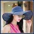 2016 New arrival fashion caps Korean summer beach hat sun hat female folding summer outdoor sun shading hats women caps