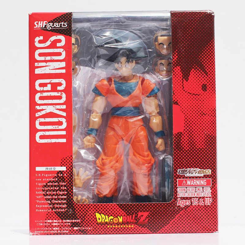Cara changable dragon ball z shfiguarts son goku vegeta troncos super saiyan filho gokou pvc figura de ação brinquedo colecionável