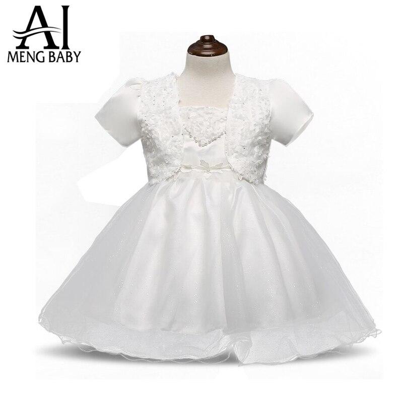 Flower baby girl wedding bridal gown little girl birthday for Wedding dresses for baby girl