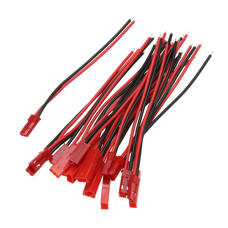 High Quality 10 Pairs 100mm Male and Female <font><b>JST</b></font> Connector Plug for RC Lipo <font><b>Battery</b></font> Part for Mini RC Helicopters RC Parts