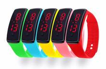 2016 hot Fashion Personality movement red led watches Silicone Women Bracelet LED Digital Girls children Sports WristWatch