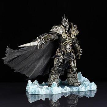 WOW RPG Game Character Arthas Menethil The Lich King Action Figure Mighty Boss Kids Toy Collection 21cm Height