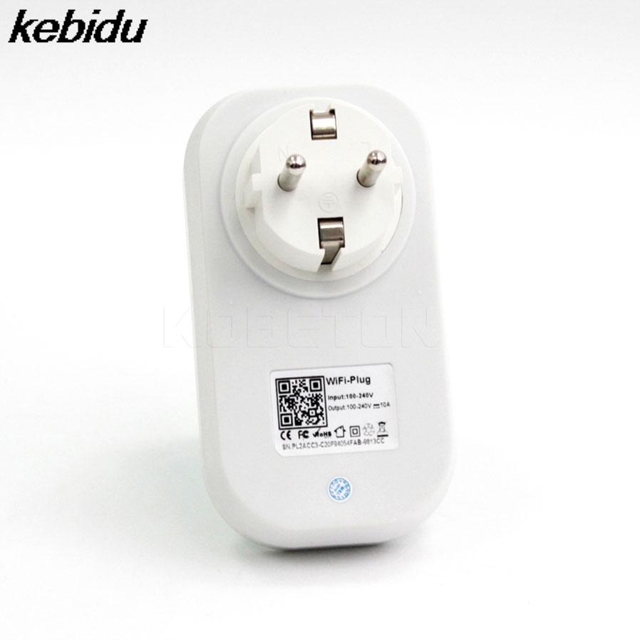 kebidu S20 WiFi Smart Socket EU/US Plug Wireless Remote Control Smart Home Automation for iPhone Android Smartphone