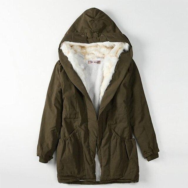 2016 new arrival women winter jackets warm comfortable Women coat solid color hooded female fashion coat outwear feminina JJT366