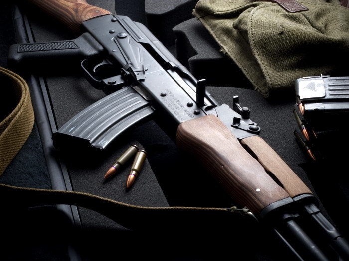 AK-47 Bullets Military Weapon Silk Poster Art Bedroom Decoration 1024