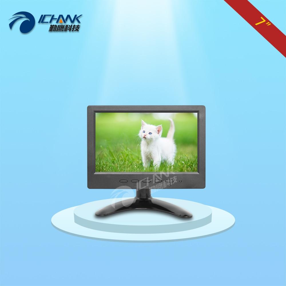 ZB070JN-V59/7 inch 1024x600 IPS Full View BNC HDMI VGA Raspberry Pi Monitor USB U Disk Desktop Wall Advertising Display Screen