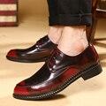 New Arrive Pu Dress Shoes 2016 New Fashion Artificial Leather Men Shoes High Quality Men Casual Shoes Luxury Brand Shoes Men-A