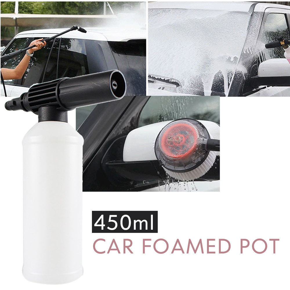 Vehemo 450ml Car Washing Foam Gun With Adapter Adjust Car Foamer Wash Bottle High Pressure Washer Gun Sprayer Soap Cleaner