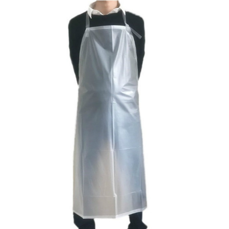 1 Pcs Frosted PVC Transparent Waterproof Sleeveless Apron Clear Oil Resistance Kitchen Cooking Unisex Back Tie Household Aprons