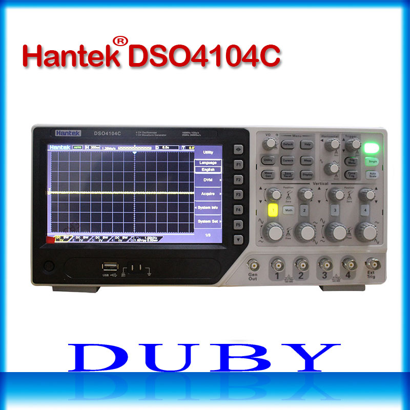 Hantek DSO4104C USB Digital Oscilloscopes 4 Channels Oscilloscope 1GS/s 7 In