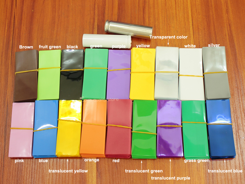 Купить с кэшбэком 10m/lot Lithium Battery Heat Shrinkable Sleeve 21700 Package Sheath Pvc Shrinkage Insulation Film Tube Diameter 21mm