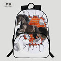 Beautiful Fashion Popular Polyester 100% 16-Inch Prints Hore Black Womens School Bags for Children Backpacks for Teenagers