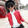 Hot sale 2016 baby girls leather jacket autumn child toddler girl heart shape back PU jackets coat fashion designer outwear