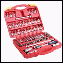 High end auto tools 61 pieces combination tools ratchet wrenches toolbox