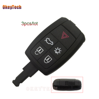 OkeyTech 3pcs/lot For Volvo XC90 C70 S60 D5 V50 S40 C30 4+1 5 Buttons Remote Car Key Shell Case Keyless Entry Fob Free Shipping