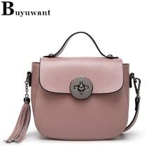 Uwant Split Leather Shoulder Bag Pure Color Crossbody Handbag Solid Piggy Clutch Messenger Chian
