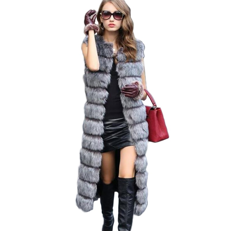 2019 Herbst Winter hochwertige flauschige Imitation Fuchspelz Weste - Damenbekleidung - Foto 1