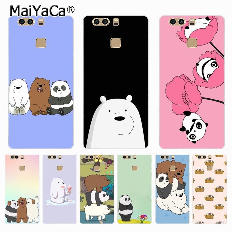 MaiYaCa we bare <font><b>bears</b></font> lovely cartoon Printing <font><b>Drawing</b></font> <font><b>phone</b></font> <font><b>case</b></font> for Huawei P9 p6 p7 p8 p10 plus <font><b>case</b></font> Cover for xiaomi 3 4case