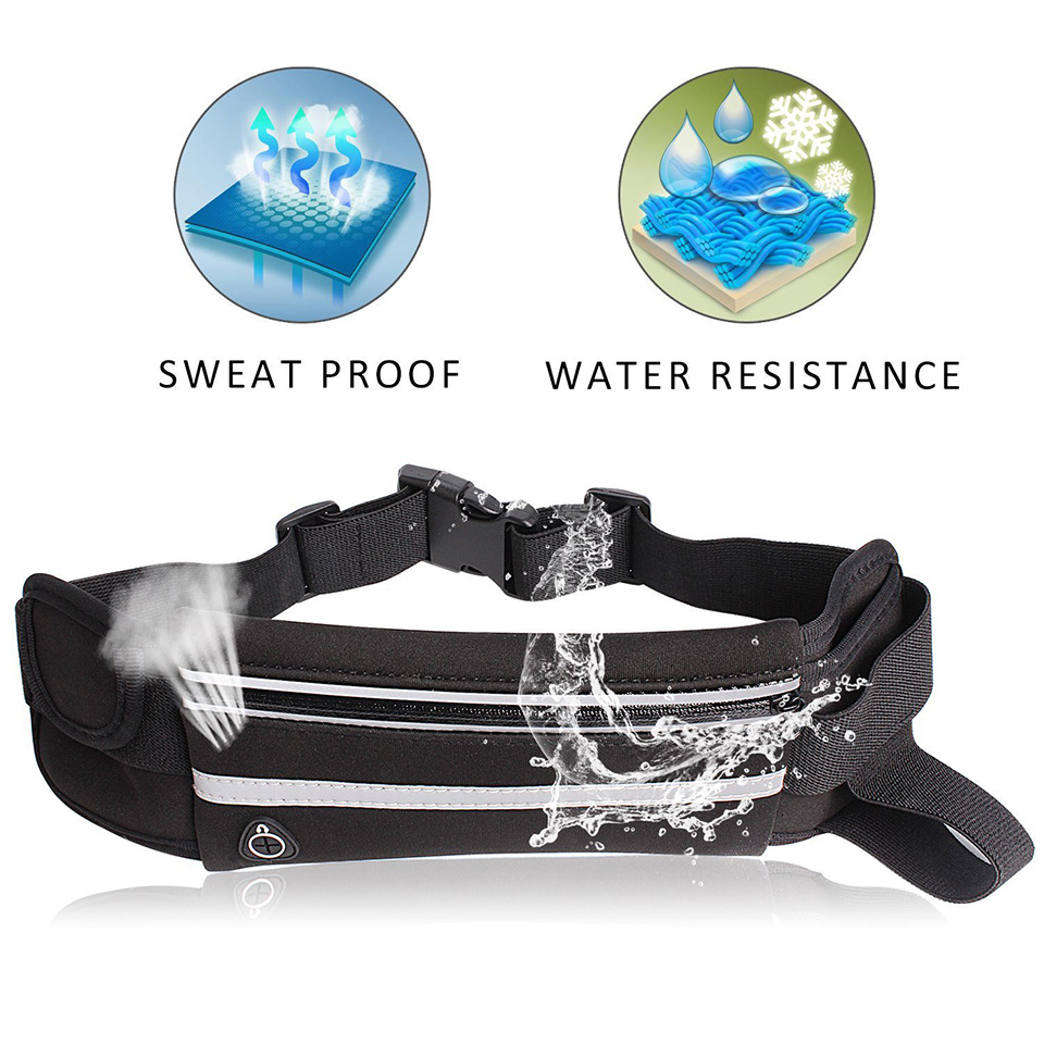 New Outdoor Running Waist Bag Waterproof Mobile Phone Holder Jogging Belt Belly Bag Women Gym Fitness Bag Lady Sport Accessories 11