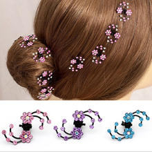 2019 New Fashion 6Pcs/set Women Girls Crystal Snowflake Hair Clips Hairpins Headwear Rhinestone Claws Accessories