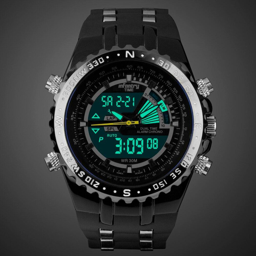 INFANTRY Mężczyźni wielofunkcyjny zegarek kwarcowy Pasek gumowy - Męskie zegarki - Zdjęcie 2