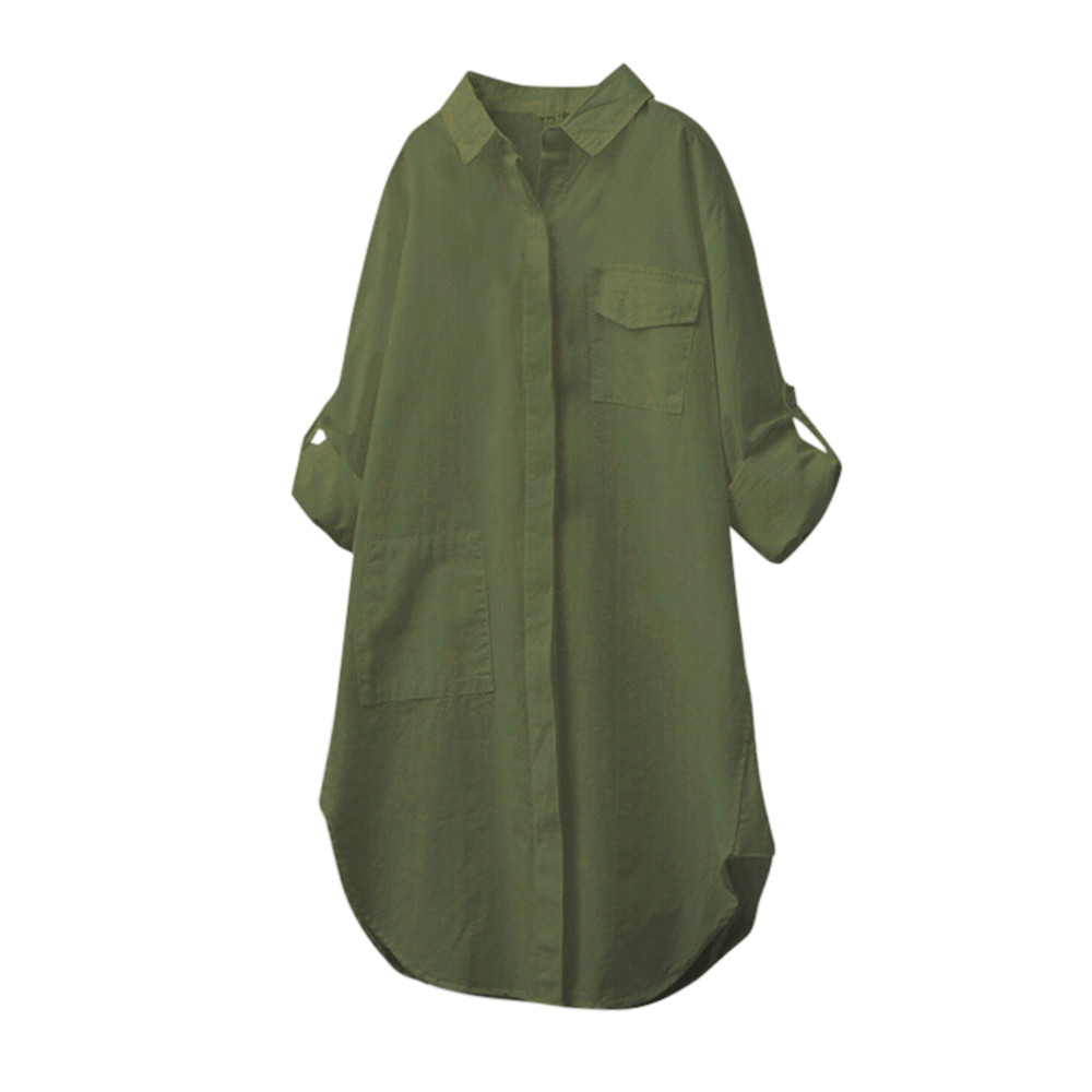 1be4f0b9 Blusas Kimono Caliente Negro Sólido Botón Blusa Manga Tamaño Y Algodón Mujer  verde blanco Más Casual Venta Larga De Tops Militar Lino BaWTwqXadx