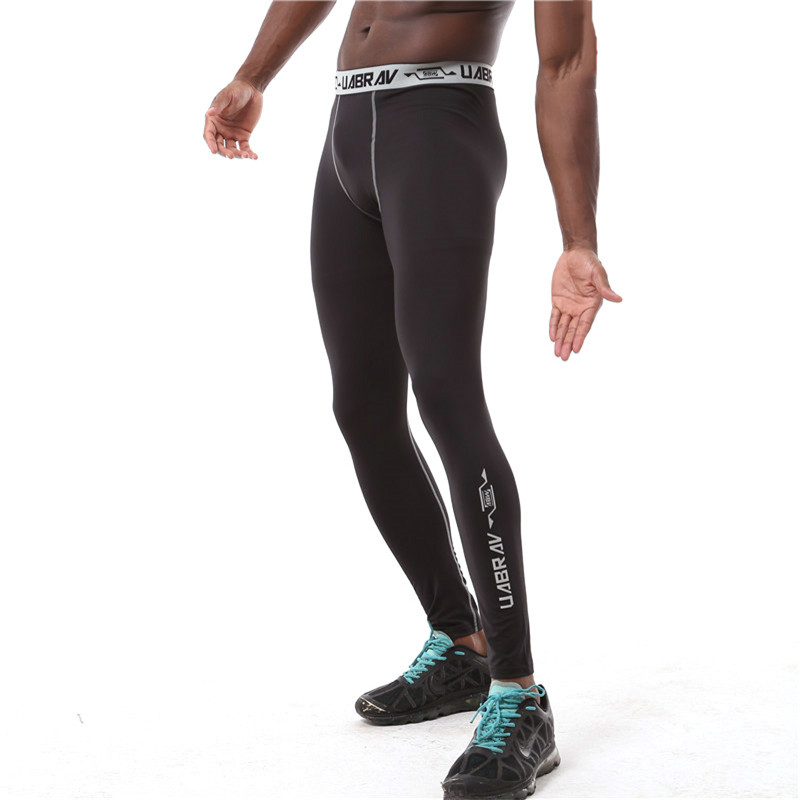 Mens Compression Pants Joggers Fitness Excercise Bodybuilding Elastic Tights Long Trousers Sweat Pants
