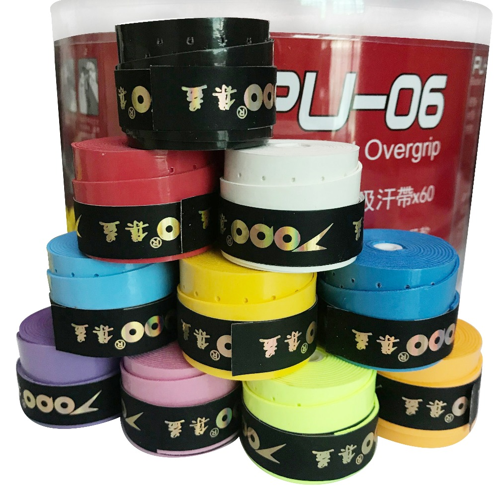 60pcs/lot TOPO PU-06 Perforated Tacky Feel Overgrip/Grips/tennis Racket/tennis Racquet/badminton/padel Tennis