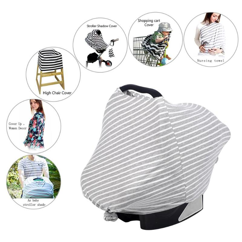 Hot Sale Multifunction Baby Girls Boys Car Seat Cover Toddler Canpony Nursing Stretehy Infinity Scarf Feeding Car Chair Cover