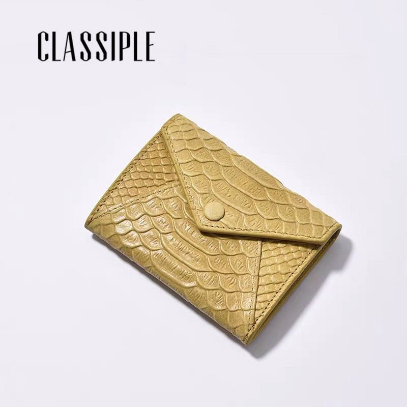 Small Women's Card Holder Genuine Leather Fashion Serpentine Female Short Womens Wallets Hasp Credit Card Holder Small Bag 2019