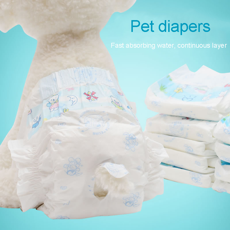 10pcs/set Dog Diapers Urine Shorts Pet Super Water-absorbing Dry health Pants For Dog Cats deodorant Supplies Pet Accessories