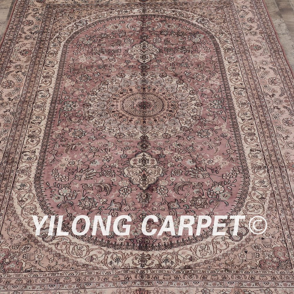 Yilong 6 X9 Antique Turkish Silk Carpet Medallion Pink Hand Knotted Oriental Rug Zw038m6x9 In From Home Garden On Aliexpress Alibaba