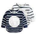 Free shipping Baby stripe T-shirt spring new children's cartoon map render unlined upper garment The boy T-shirt