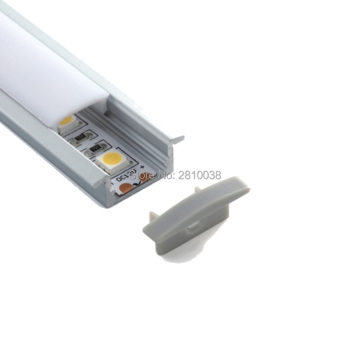 10 Sets/Lot T type Extruded LED aluminum profile and Anodized Aluminium led profile LED Channel profile for recessed floor light фото