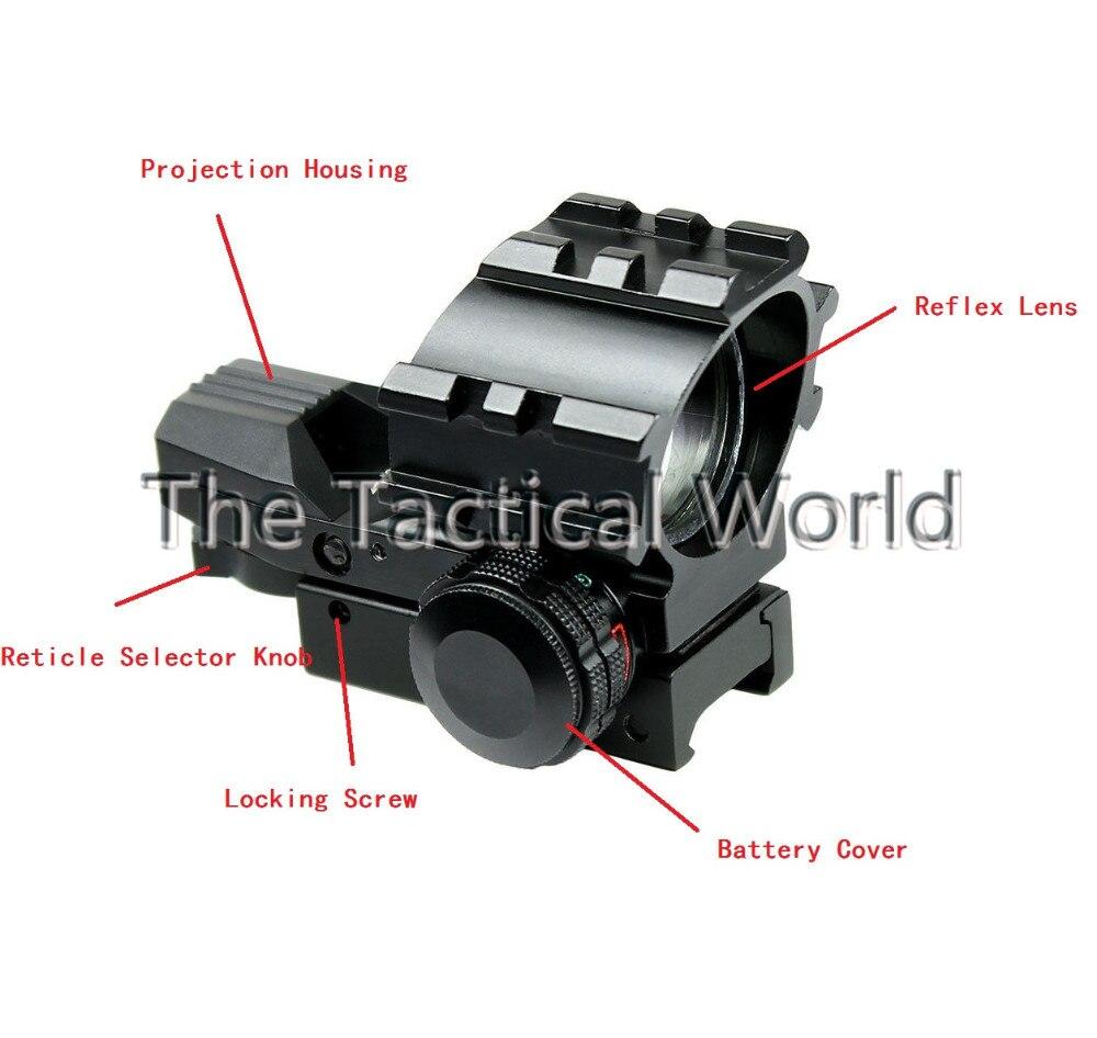 caça tático holográfica reflexivo vista escopo com