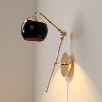 Бесплатная доставка американский творческий декоративный настенный светильник комнаты просто личность может вращаться стекло дизайнер б