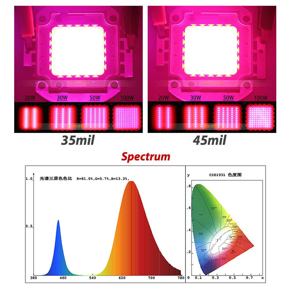Hontiey роста растений Полный спектр высокой Мощность светодиодный чипы светильники в форме шара 380-840Nm 1 3 5 10 20 30 50 100 ватт 30 45mil сад