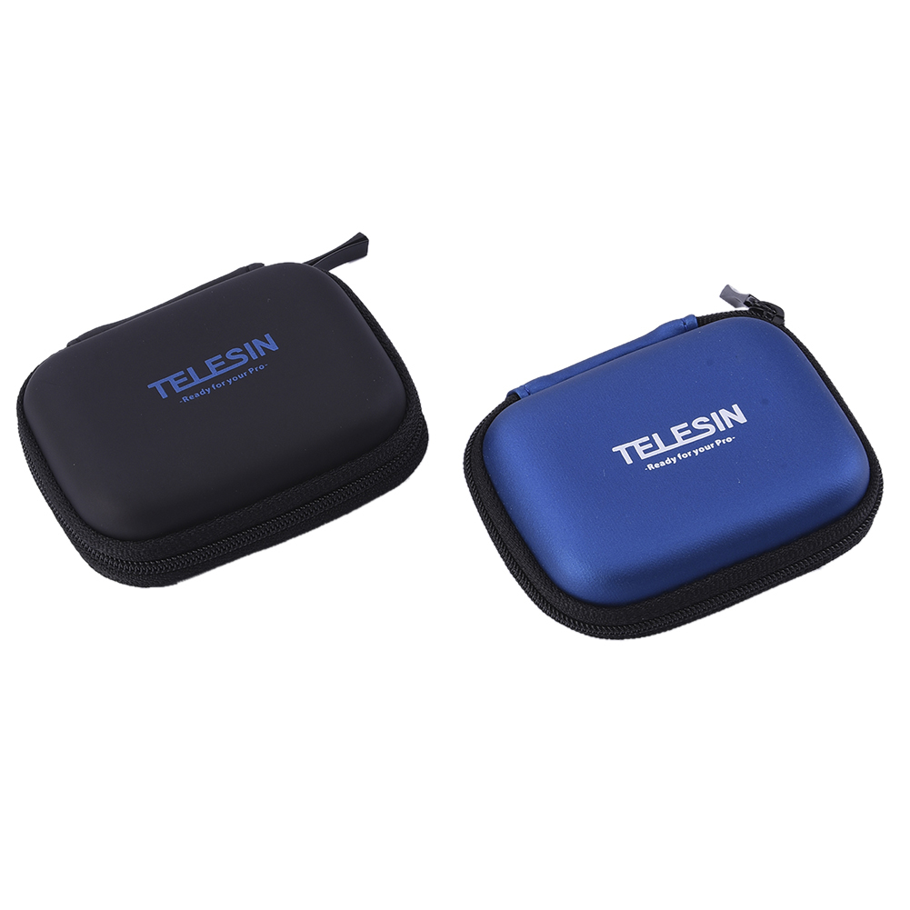TELESIN Portable Mini Action Camera Bag Pocket Carrying Case for Xiaoyi / GoPro 4 / 3+ Action Camera Accessories ...