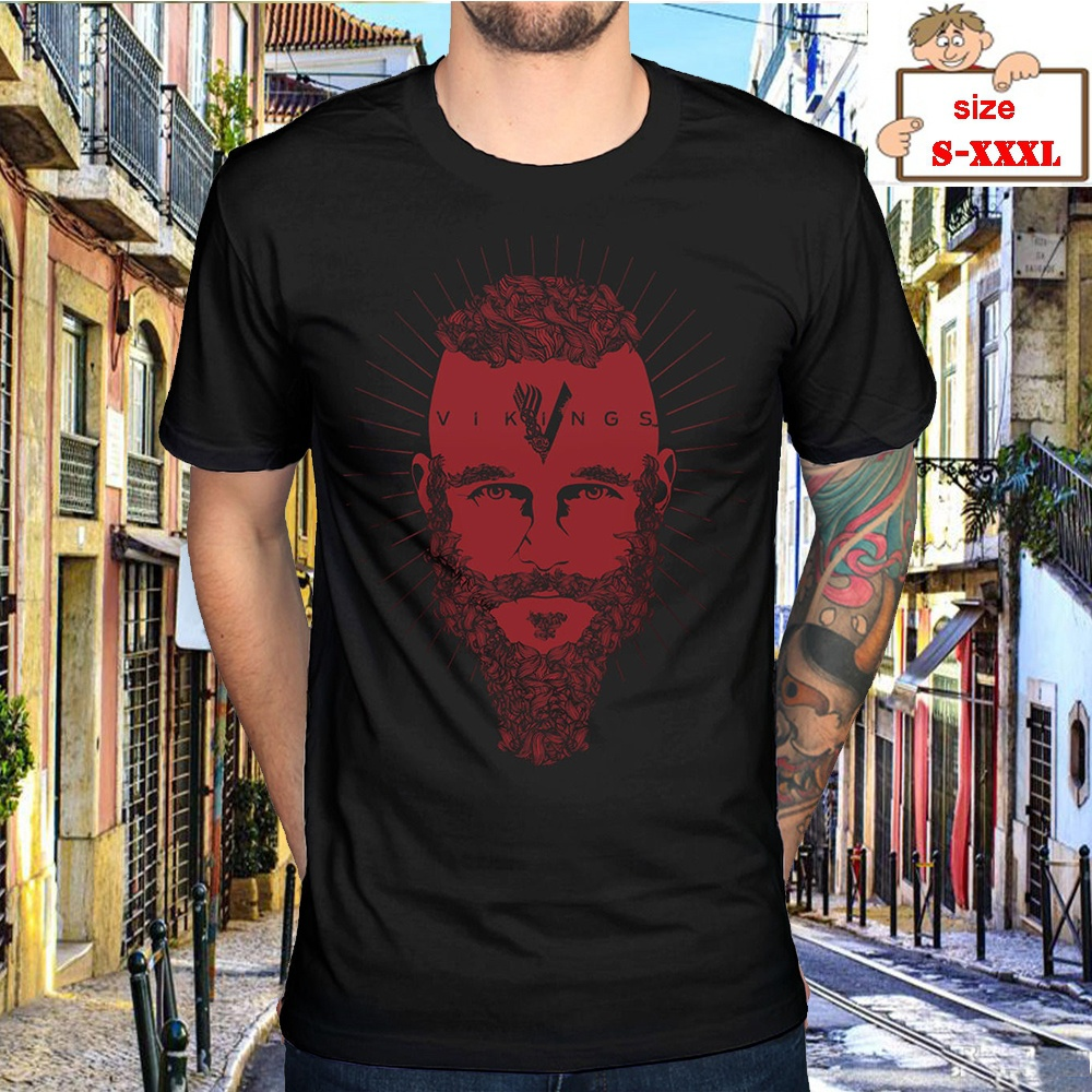 Summer Men Face T-Shirt Cute Viking Ragnar History Channel Tv Series Fan Merchandise T-Shirts Printed T-Shirt Fashion
