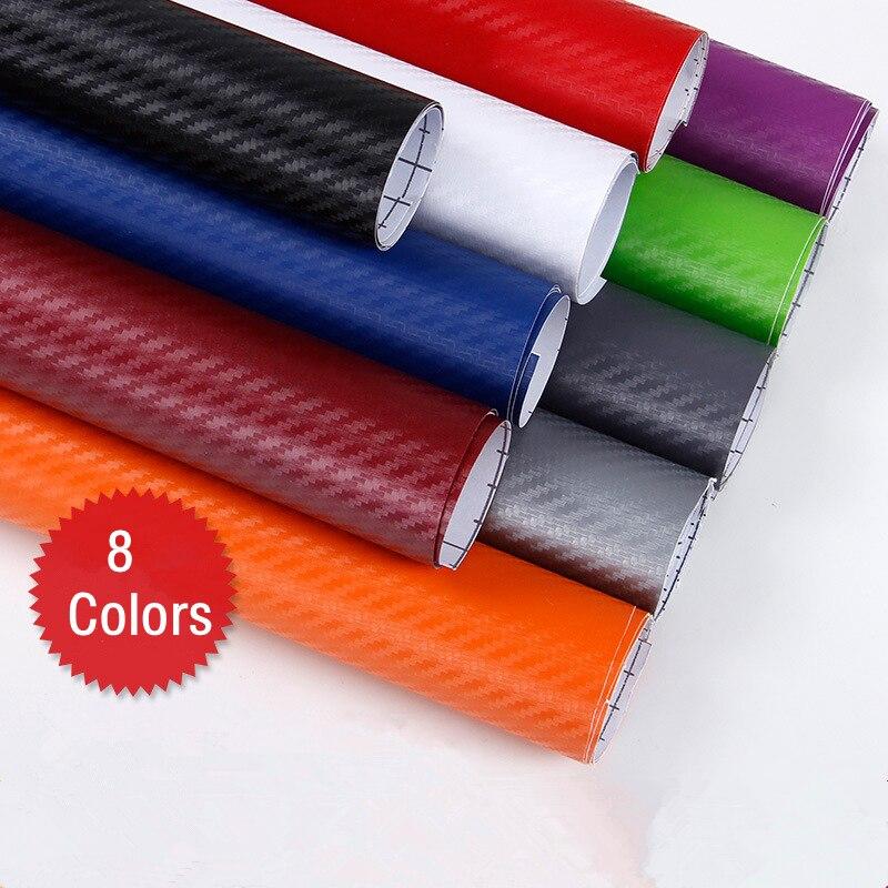 127*30cm 3D Carbon Fiber Vinyl Film Auto Styling Waterdicht Stickers DIY Motorfiets Auto Wrap Sheet Roll Folie accessoires