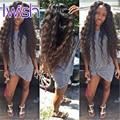 3 Pacotes Indiano Virgem Onda de Água Do Cabelo Humano Molhado E Ondulado Extensões de cabelo Indiano Cru Cabelo Oceano Onda Cabelo Humano Trama Encaracolado