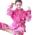 Winter Thick Warm Women Bathrobe Nightwear Floral Robes Kimono Night Robe Bath Robe Fashion Dressing Gown For Women Home Wear