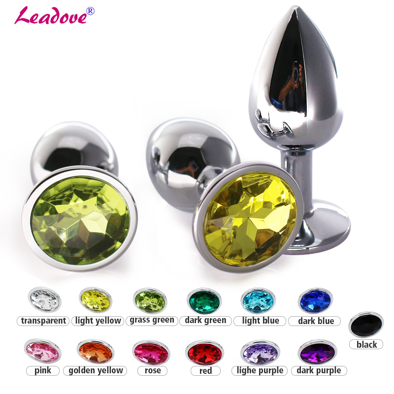 50pcs lot Large Size 95 38cm Metal Anal Toy Butt Ass Plug Stainless Crystal Plug Anal