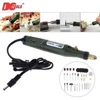 DCTOOLS DC 18V Mini Electric Grinder Drill Grinding Machine With Accessories Set For Polishing Sanding Engraving