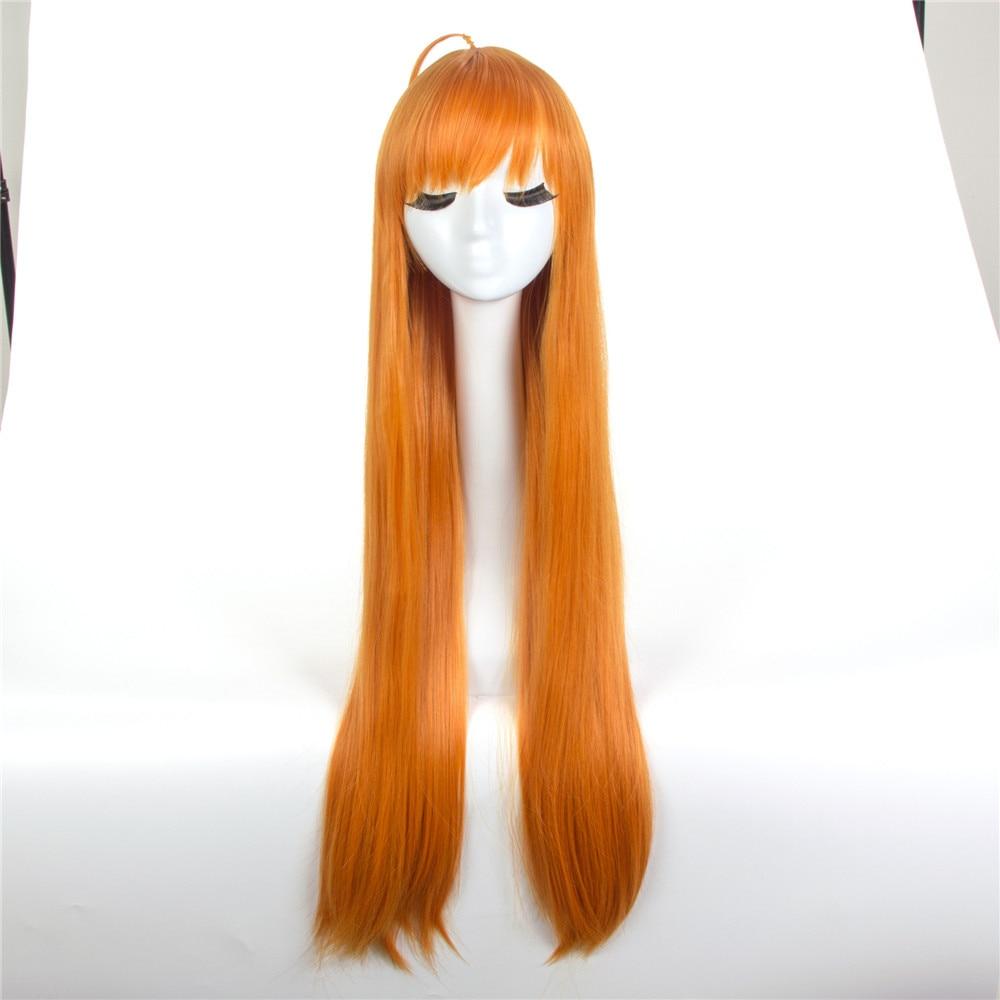 Anime Persona 5 Cosplay Wig Futaba Sakura Cosplay Wig Long Straight Orange Hair Wig Halloween Carnival Party Wig