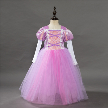 Brand Tangled Rapunzel Dress for Girls Party Princess Dress Fancy Kids Rapunzel Cosplay Birthday Clothes Kids Carnival Costume