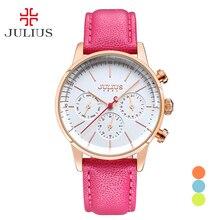 New Julius Women s Lady Wrist Watch Japan Quartz Hours Fashion Dress Bracelet Sport Leather Auto